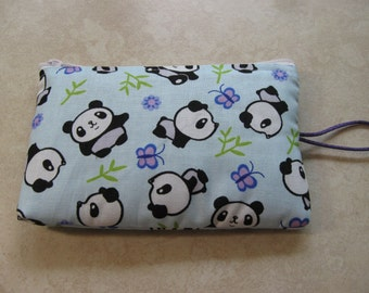 panda padded makeup jewelry bag
