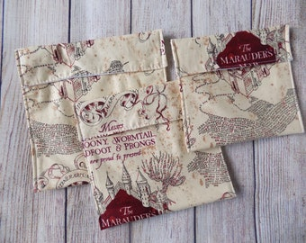 Marauder's Map reusable snack bags