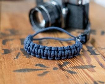 Camera Wrist Strap – Slate Blue / Gunmetal Clip – apmots - Sling Paracord Mirrorless DSLR Compact Navy