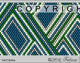 Peyote Pattern PDF File - Edie Bracelet