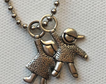 Little Girl Silver Pendant Charms