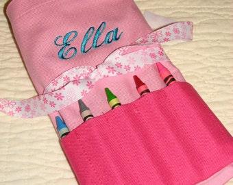 Personalized Crayon Bag - Girls Crayola Pouch - Custom Crayon Tote - Monogram Crayola Purse - Crayon Purse - Personal Art Pouch