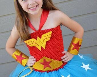 Girls Wonder Woman Costume - Wonder Woman- Superhero costume- Girls superhero- Superhero Birthday - 1st Birthday