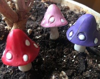 Medium Garden Mushrooms (set of 3)