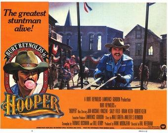 Hooper (1978) movie poster 11 x 14 Burt Reynolds Hollywood stuntman Sally Field Jan-Michael Vincent Adam West James Best Hal Needham
