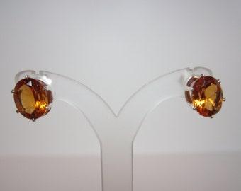 Brazilian Madeira Citrine Earrings