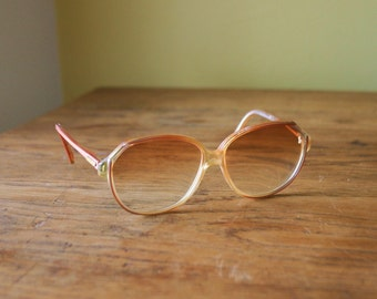 Retro 80's Evan Picone Pink Eye Glasses