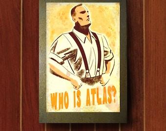 Bioshock Who is Atlas Print
