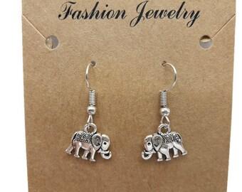 Elephants - earrings unusual earrings - gift women - gift - girl gift cheap - B088