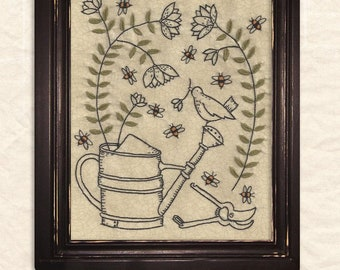 Garden Glory Embroidery Pattern by Kathy Schmitz - Joyful Journey Series