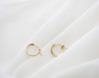 Midi Hoop Earrings // Gold filled Hoop Earrings // Everyday Earrings // Gifts for her