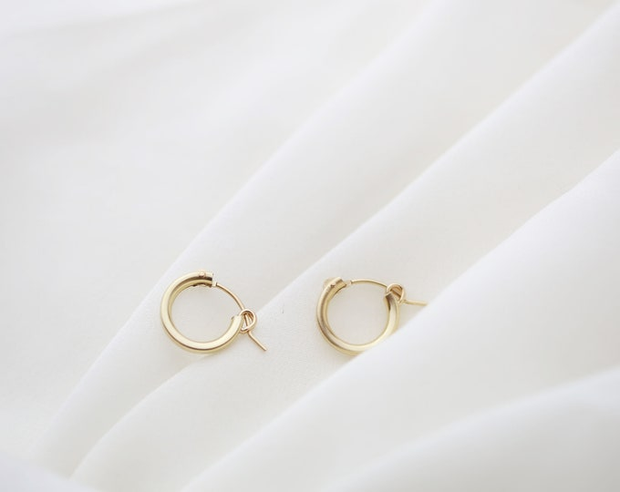 Midi Hoop Earrings // Gold filled Hoop Earrings // Everyday Earrings // Gifts for her