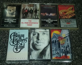 The Allman Brothers Band + Duane Allman Lot of 7 Cassettes