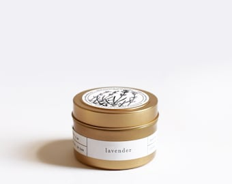 Lavender Gold Travel Soy Candle