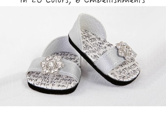 Handmade to fit like American Girl Doll Sandals, 18 Inch Doll Shoes - Modern SUMMER CHIC Sandals with Front Strap and Back Heel Enclosure