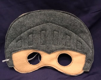 Embroidered Knight Felt Play Mask