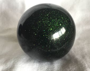 Groovy Green Goldstone Spheres! Green Goldstone Spheres! Deep Green and Sparkly! Deep Green Spheres with Sparkle and Shine!