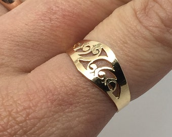 gold plated ring,lace ring,ethnic ring,vintage ring,gold ethnic ring,statement ring