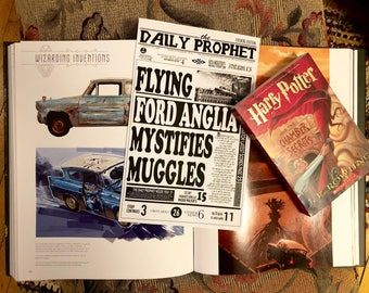 PRINTABLE: The Daily Prophet - Flying Ford Anglia Mystifies Muggles