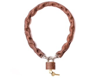 Leather Chain Bicycle Lock