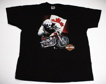Vintage 90s Harley Davidson Polar Bear T-Shirt