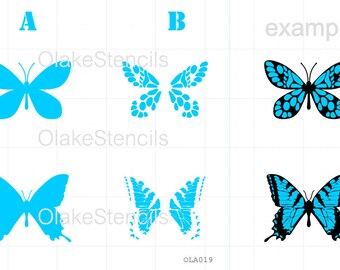 OLA019 Butterfly - two layers stencil