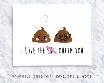 love you printable cards, romantic card, funny love card, love you greeting card, love you sweary card, love you naughty cards