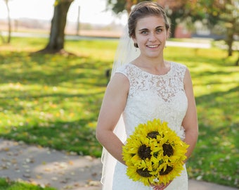 Sunflower bridal bouquet! Wedding bouquet, bride bouquet, bouquet for wedding, sunflower, keepsake bouquet, sunflowers