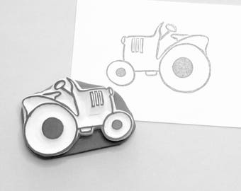 Lil Tractor stamp