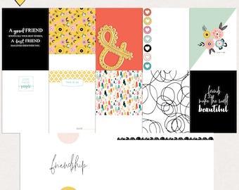 Friends digital journal cards, Friends printable journal cards, Project life printables, Friends project life cards, Digital journal cards