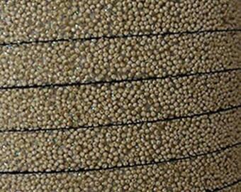 20 cm Strip flat 10mm taupe caviar effect