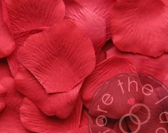 Strawberry Silk Petals {Package of 100} //// Silk Flower Petals, Silk Rose Petals