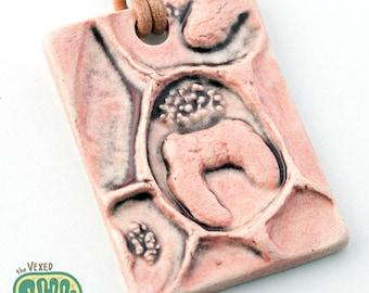 Anaplasma phagocytophilum bacteria necklace, microbiology jewelry