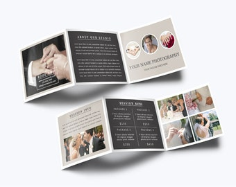 Photography Trifold Brochure Template 003 for Photoshop 5.5 x 4.25 - Photographer Template - Photography Template