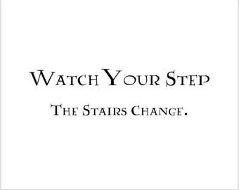 photograph regarding Printable Watch Your Step Sign referred to as Stairs modifying indication Etsy