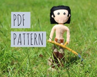 PDF PATTERN: Scything Poldark Felt Doll