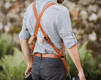 Leather camera strap, MULTI camera strap, leather harness, camera straps, gift or him, photographer gift, camera strap leather, photography