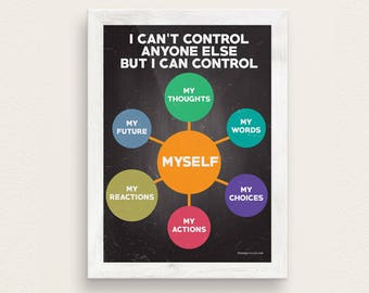 I Can't Control Anyone Else But Myself Therapy Poster