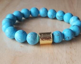 mala beads bracelet, turquoise bracelet, boho jewelry, yoga gifts for women, mothers day gift mom gifts, gemstone bracelet, stackable