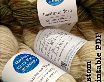 Custom Yarn Labels || Custom Label Band Tag || Small Business || Fiber Artist  || Digital Download
