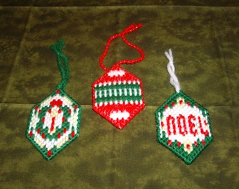 SALE-Set of 3 Ornaments