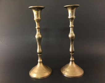 Vintage 2 Brass Candle Holder