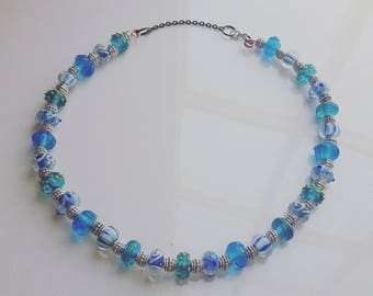 Glass Lampwork Bead Necklace