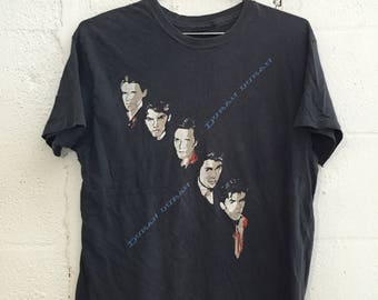 Vintage 1980's Duran Duran Concert Tour Band T Shirt Small
