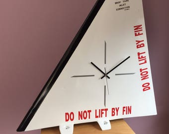Aircraft Fin Clock, Aero, military desk clock, Airplane Clock, Man Cave