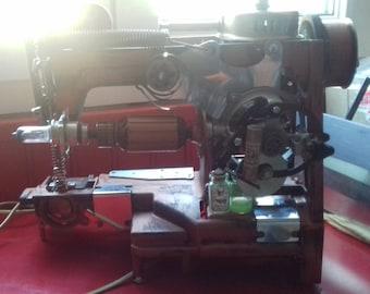 Sewing machine lamp copper steampunk
