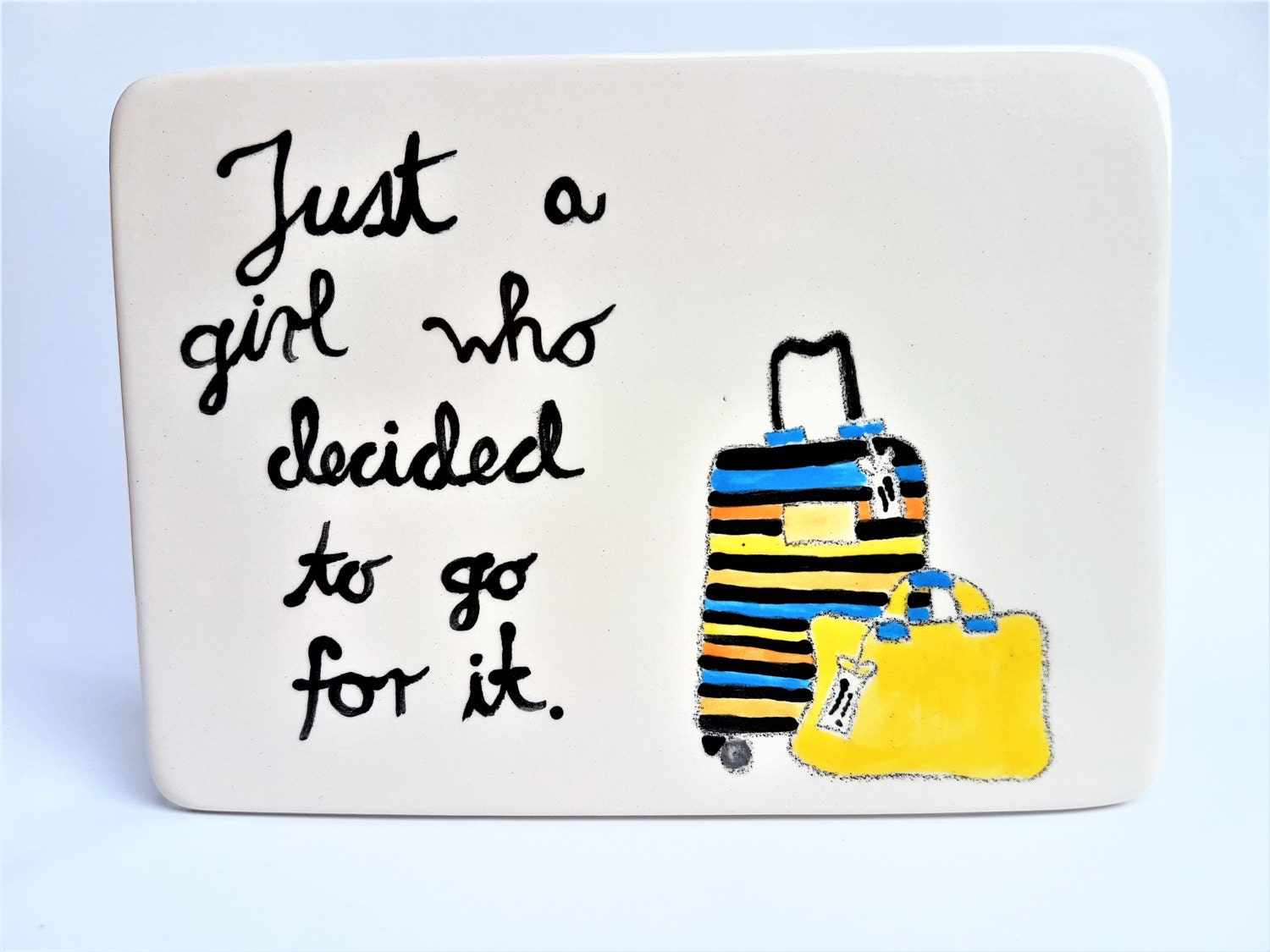 Empowered women, Ceramic tile, Quotes, Girl, Travel gifts ...