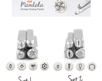 IMPRESSART - Mandala Metal Stamp Set 1 or Set 2 - 6mm  | Mandala Metal Design Stamps | New From ImpressArt |  Mandala