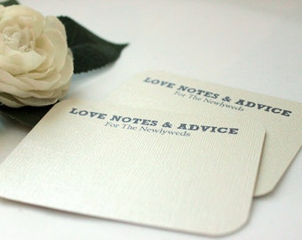 50 Wedding Advice Cards / Love Notes / Marriage Advice - Preppy; bride and groom newlyweds words of wisdom well wishes guestb bridal shower