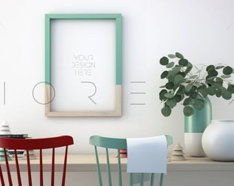 Styled Stock Photography | a3 Frame Mockup | Wooden Digital Frame mockup | Styled Photography Mockup | Stock photography | Vertical frame